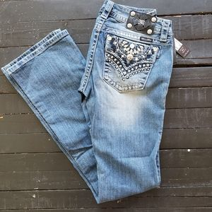"""NWT Miss Me Jeans 29/36 Bootcut 29"""" Mid Rise"""